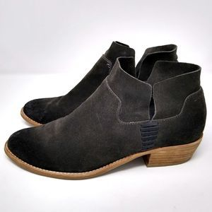 Dolce Vita charcoal suede ankle boots